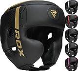 RDX Cascos Boxeo Helmet MMA para Entrenamiento y Muay Thai, Maya Hide Cuero Kara Head Guard, Ideal para Grappling, Sparring, Artes Marciales Kickboxing, Karate, BJJ, Taekwondo