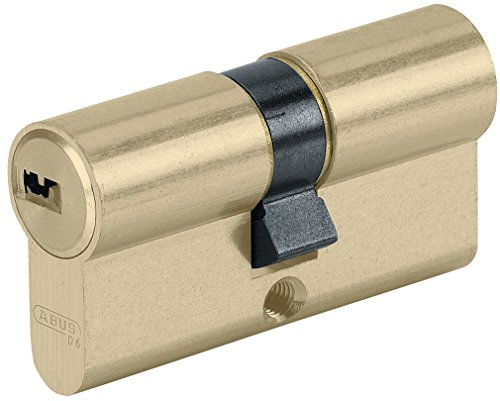ABUS 27053 Tür-Zylinder/Schloss mit Schlüssel, Messingfarben, 35x45 mm