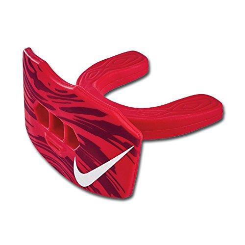Nike Game-Ready Lip Protector Mundschutz mit Lippenschutz und Strap, Senior, rot