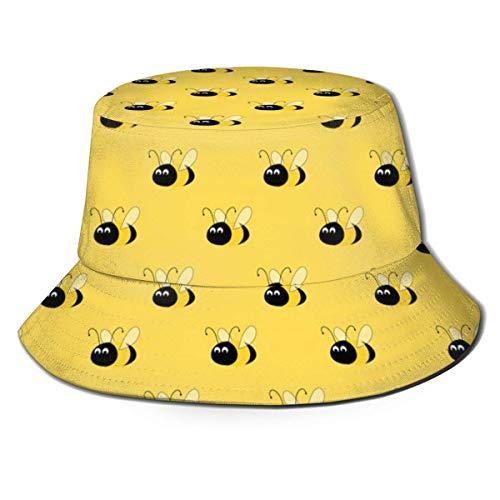 Yellow Bees 1 Sombreros de Cubo Unisex para Exteriores Gorros de Pescador con protección Solar de ala Ancha