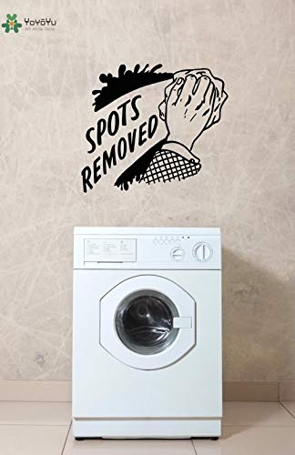 Ajcwhml Laundry Room Vinyl Wall Stickers Hand Clean Wall Decal Quotes Sports Removed Clothesline Home Decor Modern Design Art Mural 91x79cm
