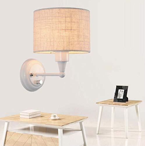 Rustieke industriële metalen wandlampen met stoffen kap, moderne wandverlichting metalen kooi bedlampje woonkamer slaapkamer E27