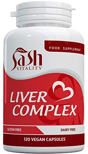 Liver Support Capsules High Strength | 13 Essential Natural Ingredients for Healthy Liver Function - Premium Liver Supplement | 120 Vegan Liver Pro Care Tablets – 8 Weeks Usage | UK Made Sash Vitality