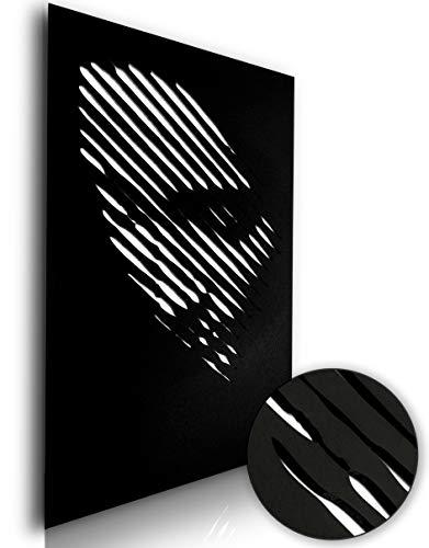 n2 Lounge Guru Wandtattoo, 3D-Wandbild aus Holz - Inklusive Montage-Kit - 40x60 cm (A Woman\'s Face)