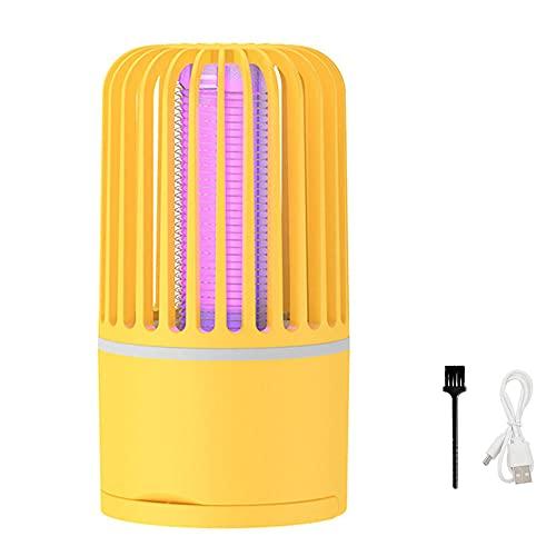Lámpara Antimosquitos Eléctrico Interior 5W, 2 en 1 LED Mosquito Lámpara Trampa, UV Recargable Mata Mosquitos, Camping Insectos Lámpara, Matar Mosquitos Moscas...