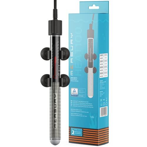 Measury Aquarium Heizung 100W - Heizstab für Aquarium bis 100L - Regelheizer mit Kontrollleuchte