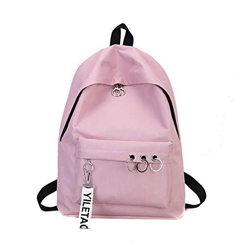 Mode Rucksack Rucksack Mode Leinwand Damen Rucksack Anhänger Reise weibliche Umhängetasche Harajuku Rucksack weibliche Schultasche Schultasche Pink