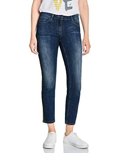 Cecil Damen 372454 Charlize Tight Fit Slim Jeans, Authentic mid Blue wash, 38 /L28 (Herstellergröße:29)