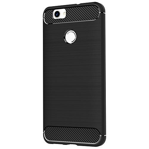 AICEK Huawei Nova Hülle, Schwarz Silikon Handyhülle für Huawei Nova Schutzhülle Karbon Optik Soft Case (5,0 Zoll) - 2
