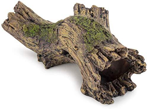 Hygger Aquarium Dekoration Baumstamm, Harz Höhle Aquarium Deko, Aqua Ornaments ideal für kleine Garnele Fisch