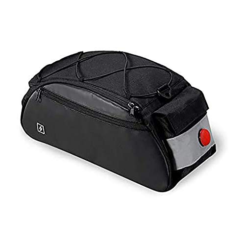 WRJ Fashion Bicycle Bags Porter Waterproof Seat Pocket Bike Rack Bag Waterproof Bicycle Rack Bag for The,Black