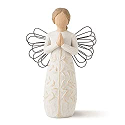 Sentiment: May you find strength, beauty and peace each day written on enclosure card 5.5 Inch hand-painted resin figure with wire wings; ready to display on a shelf, table or mantel; to clean, dust with soft brush or cloth A gift to comfort and enco...