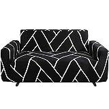 Nordmiex - Copridivano elasticizzato stampato, 1 pezzo elastico in poliestere e spandex, per divano e divano, universale, con stampa # 0J