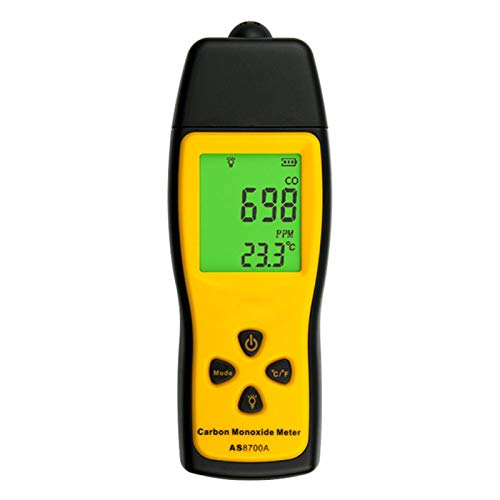 Handheld Carbon Meter, Portable Precision Detector LCD Digital Display Multipurpose Gas Monitor Tester, 0~1000ppm, Random Color (Battery Not Included)