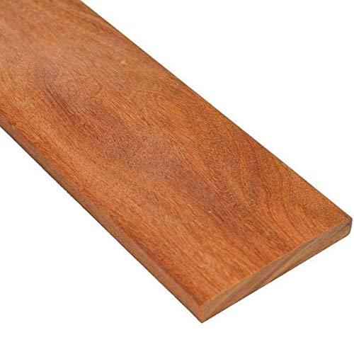 Lame de Terrasse en Bois Exotique Cumaru KD 19x140 (Epaisseur 19mm, Largeur 140mm) Lisse 2 Faces (Bois Exotique Cumaru, 1.85m)