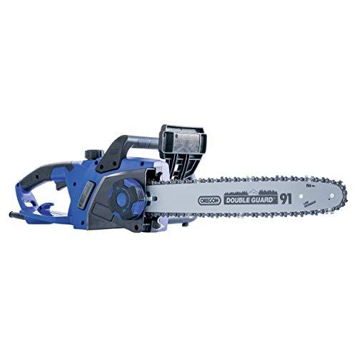LUX-TOOLS E-KS-2400/40 A Elektro-Kettensäge mit 2400 W, einer Schnittlänge von 40 cm | 230 V 2400 W Motorsäge mit automatischer Kettenschmierung