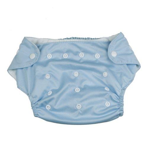 La Vogue Bébé Couche Imperméable Lavable Polyester à 3-13Kg Boutons Bleu