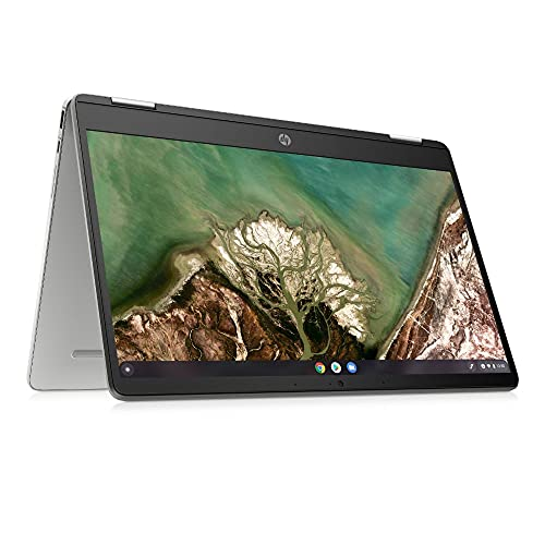 HP Chromebook x360 14a-cb0030ng (14 Zoll / FHD IPS Touch) 2in1 Laptop (AMD 3015CE, 8GB DDR4, 128GB eMMC, Chrome OS, QWERTZ ) Silber