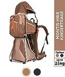 MONTIS Hike - Mochilas portabebés - 25 kg (Moca)