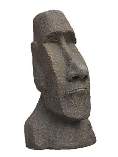 Osterinsel Kopf, Osterinselkopf, Figur aus Steinguss, Witterungsbeständig, Frostfest