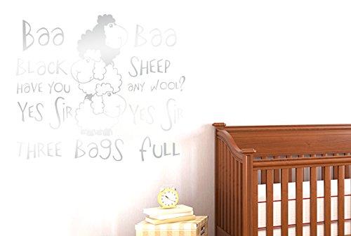 CUT IT OUT Nursery Rhyme Baa Baa Black Sheep haben Sie eine Wolle Wall Sticker Art Aufkleber–Groß (Höhe 57cm x Breite 66cm) (glänzend) Remasuri