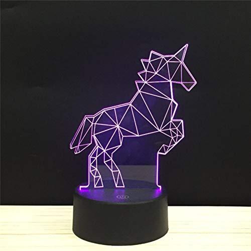 LPHMMD Nachtlampje LED 3D Sky Paard Nachtlampje Acryl Nachtlampje Lichtgevende met Touch en Afstandsverlichting Lichtjes Pure Liefde Decoratie