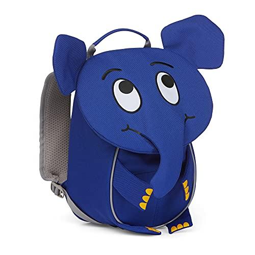 Affenzahn Kleiner Freund - Kindergartenrucksack für 1-3 Jährige Kinder im Kindergarten und Kinderrucksack für die Kita - Die Maus Elefant - Blau