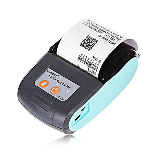 GeKLok Imprimante Thermique de Tickets de Caisse, Imprimante Mobile Portable Bluetooth pour la Vente au détail de factures de reçus, Compatible avec Android iOS(Bleu)