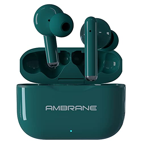 Ambrane Dots 38 Bluetooth Truly Wireless In-Ear Earbuds With Mic (Green)