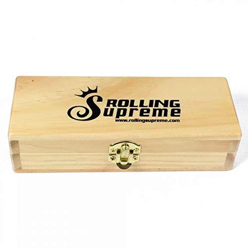 grande scatola porta cartine in legno di pino massiccio di Smo-king Rolling Supreme