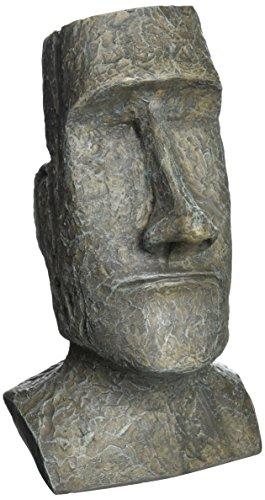 Design Toscano DB5111 Easter Island Ahu Akivi Moai Monolith Garden Statue, Desktop, 9 Inch, Polyresin, Grey Stone