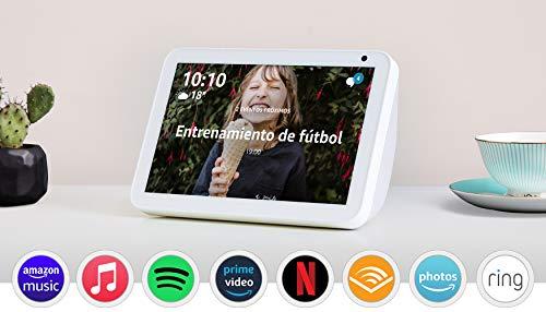 Echo Show 8: mantén el contacto con la ayuda de Alexa, tela de color gris claro