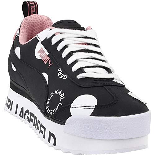 PUMA Womens Roma Amor Polkadot x Karl Lagerfeld Casual Sneakers, Black, 9