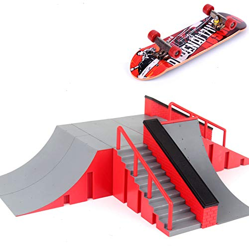 Dorime 1pc Mini Skateboard Spielzeug Skate Park für Fingerboard Skateboard Rampen Brett ultimative Park Training Board
