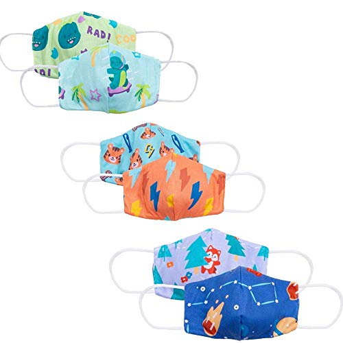 Cubcoats Reversible Kids Face Mask (3-Pack), Double-Sided Reversible Designs, Reusable & Washable Children's Face Mask, Cloth Face Mask Variety Pack...