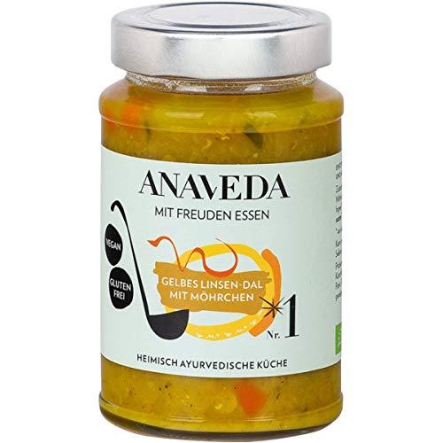 Anaveda Bio Eintopf Nr. 1 Gelbes Linsen-Dal mit Möhrchen - vegan - 390 g Glas