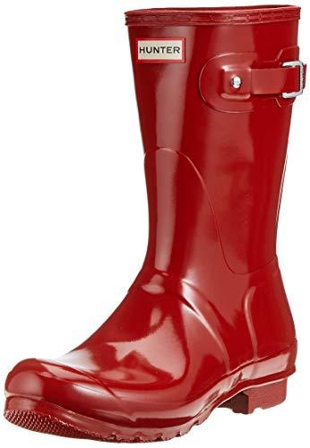 HunterWmn Org Short Gloss - Botas de Agua Mujer, Color Rojo, Talla 43 EU