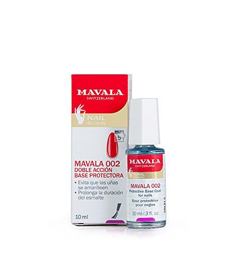 Mavala 002 Base de Manicura Protectora de Doble Acción que Protege las Uñas y Alarga la Duración del Esmalte, 10 ml