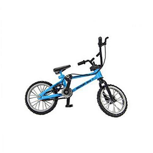 Bicicleta dedo funcional miniatura Nini Montaña bici del deporte de metal juego de los juguetes para los muchachos de los niños - azul, 1 pieza