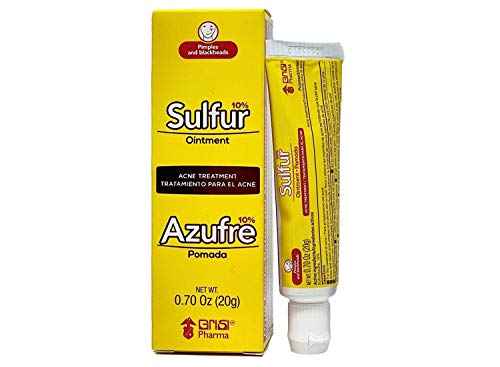 Grisi Sulfur Acne Treatment Ointment | Sulfur Ointment for Severe Acne Treatment, Helps to Clear Up Pimples and Blemishes; 0.70 Ounces