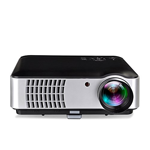Libina 806 Projector LDE Android Wifi Wireless 1080P HD Projection Business Office Teaching Home, Black