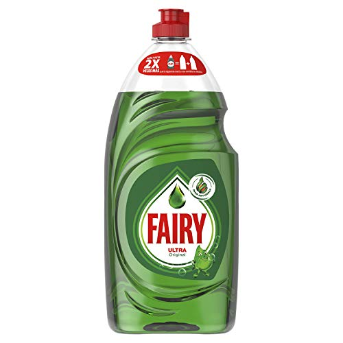 FAIRY Ultra Original Líquido Lavavajillas Verde Con LiftAction: Sin Dejar En Remojo, Sin Grasa, Sin Dificultad Y Suave Con La Piel - 820 ML