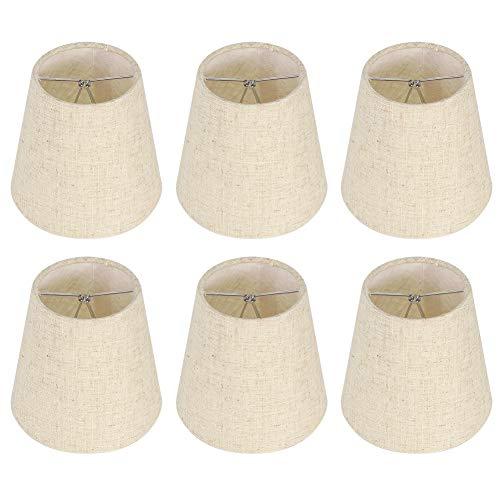 Pantalla de Lámpara de Pared de 6 Uds, Pantalla de Tela, Pantalla de Lámpara de Estilo Nórdico Para Decoración del Hogar, Accesorios de Iluminación