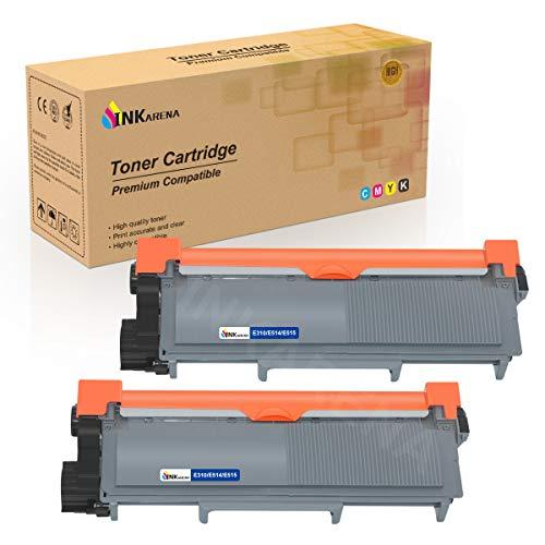 E310dw E310 E515dw E514dw Compatible Toner Cartridge Replacement for Dell E514 E515 E515dn P7RMX PVTHG 593-BBKD Printer Cartridges (2 Black High Yield 2600 Pages) by INKARENA