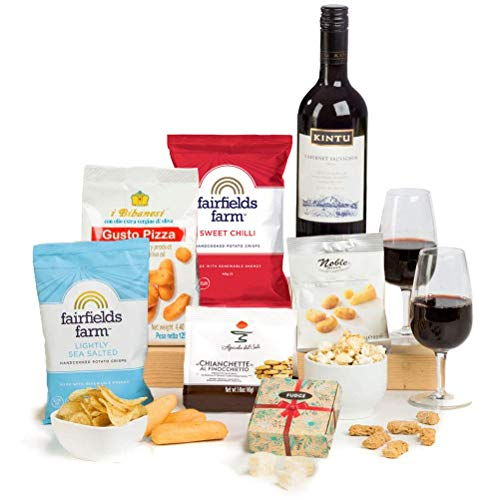 It's Wine O'Clock! Red Wine & Nibbles Gift by Hay Hampers - Thank you Teacher Gift for Women and for Men