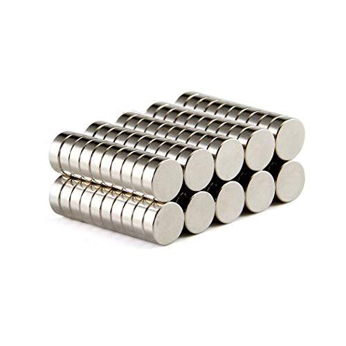 TooTaci Neodym Magnete - 100 Stücke Mini Magnete Rund 6 x 3mm mit Aufbewahrungs Box, Magnete Klein Stark für Pinnwand, Whiteboard, Kühlschrank, Magnettafel