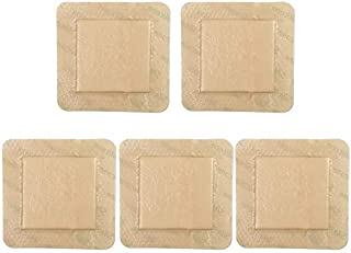 """5PCS 6""""x6"""" Silicone Foam Dressing with Border , Waterproof Adhesive Hydrophilic Foam Dressing, Ultra Absorbent Central Foa..."""