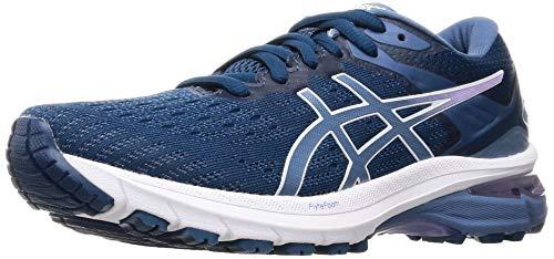 ASICS Gt-2000 9, Zapatillas para Correr para Mujer, Mako Blue Grey Floss, 42.5 EU
