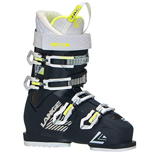 LANGE SX 70 Bottes de Ski pour Femme Bleu Marine/Jaune, Femme, LBH6240_25.5, Bleu Marine/Jaune, 25.5 EU