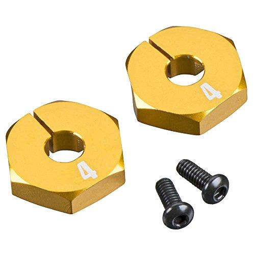 Team Durango TD310466 Wheel Hex (Set of 2), 4mm, Aluminum/Gold